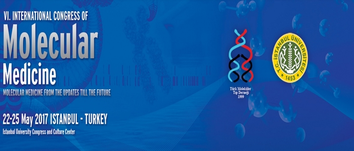 6.Uluslararası Moleküler Tıp Kongresi 22-25 Mayıs tarihleri arasında düzenlenecektir.
